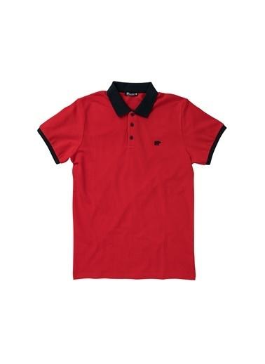 Bad Bear Swıtch Pıque Polo T-Shırt Mavi Polo Tişört Kırmızı